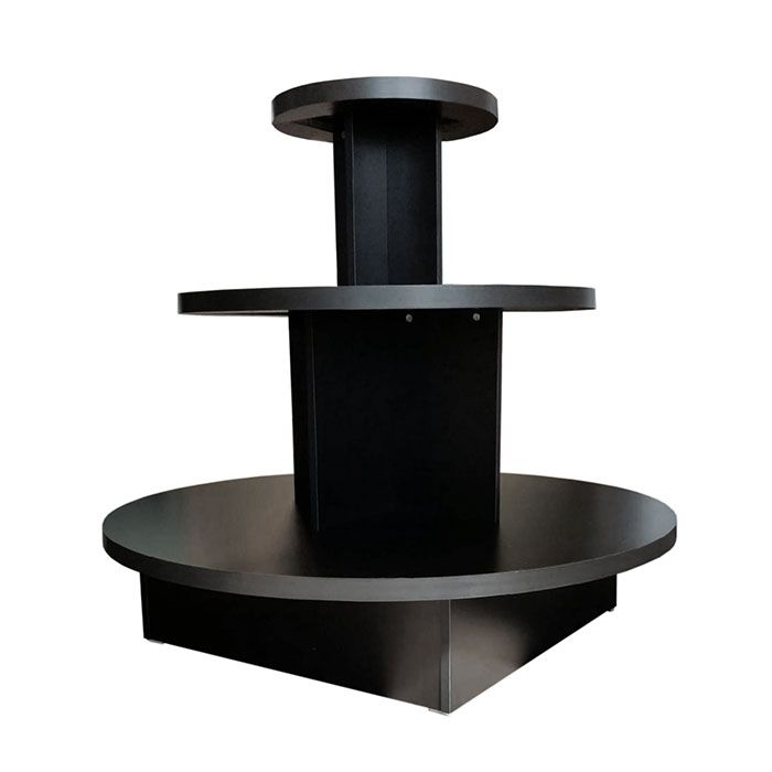 Round Display Table With 3 Tiers Subastral, 3 Tier Round Display Table