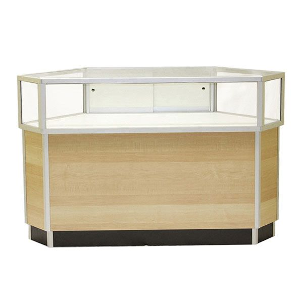 Jewelry Showcase And Glass Retail Display With Storage Cabinet Subastral